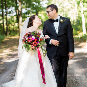 Ben & Nancy: Fall Lake Wedding in the Adirondacks