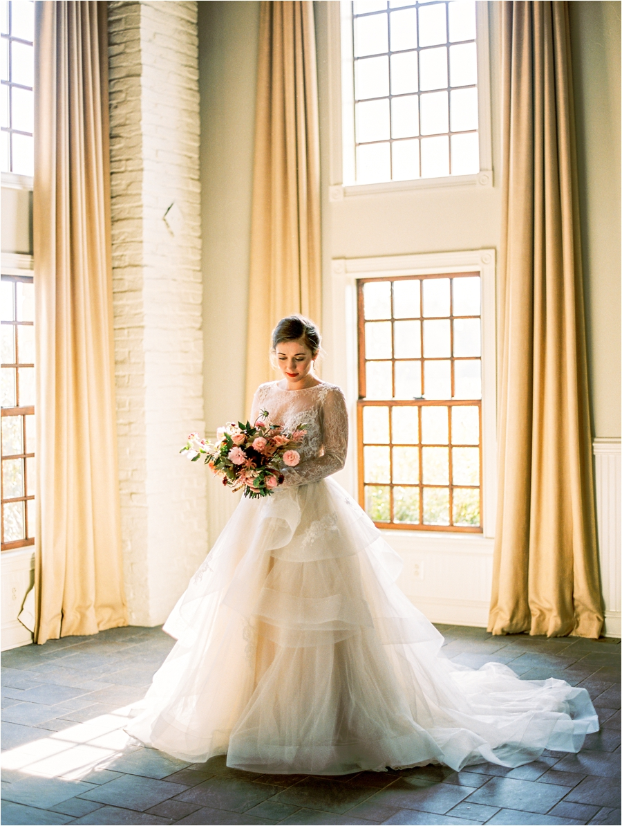 bridal portrait at early mountain vineyards