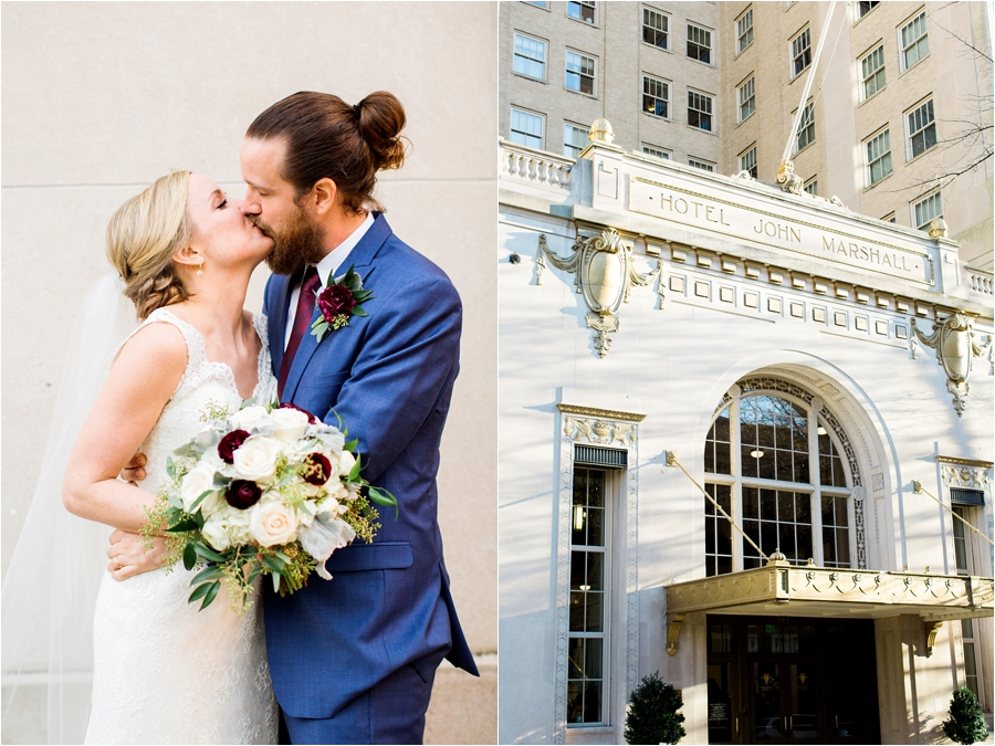 richmond winter wedding at hotel john marshall by charlottesville wedding photographer, amy nicole photography_0070