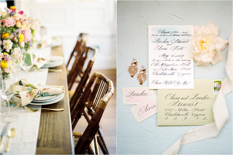 old metropolitan hall rehearsal dinner mixed patterns inspiration by charlottesville wedding photographer, amy nicole photography_0009