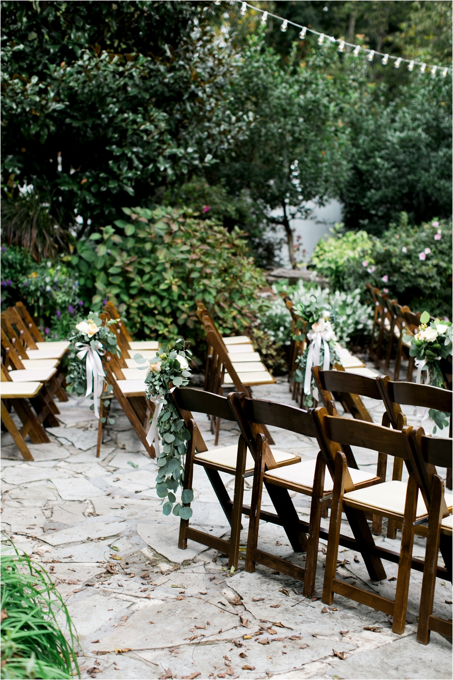 ceremony chairs for garden wedding ceremony