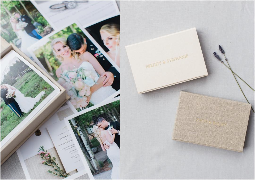 heirloom box of wedding prints